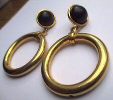 boucles d'oreilles bijou percées vintage couleur or anneaux mobile  2235