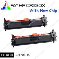 2PK High Yield CF230X 30X Toner Cartridge For HP LaserJet M203d M203dw M227fdn