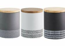 Typhoon MONOCHROME TEA COFFEE SUGAR Storage TIN Metal Canisters Grey White Black