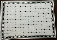 Dollhouse Miniature White with Black Diamonds Faux Tile Flooring 1:12 Scale