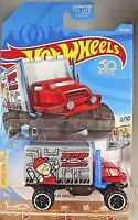 2018 Hot Wheels #354 HW Metro 2/10 BAJA HAULER Red/Gray w/Black OR OH6 Spokes