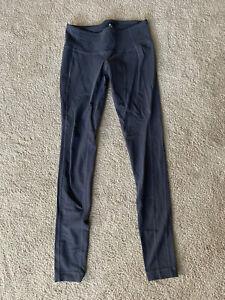 Athleta Gray Full Length Leggings Pants Yoga Running Small Tall ST S