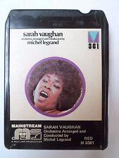 RARE  K7 - 8 track - SARAH VAUGHAN & Orchestra Michel Legrand - 361 - RED M 8361