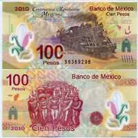 MEXICO 100 PESOS 2007 (2010) P 128 COMM. POLYMER B PREFIX UNC
