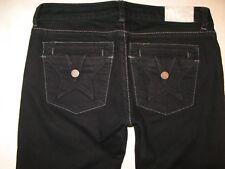 Peoples Liberation Jeans Low Slim Straight Leg Star Flap Pocs Black Sz 26