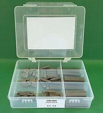 Passfeder Sortiment DIN 6885 C45K A5 - A8 Stahl blank 80-tlg Form A
