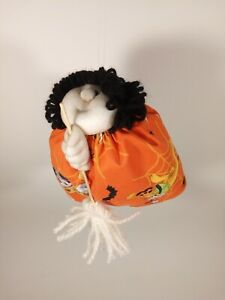 Orange Disney Stocking Face Good Luck Kitchen Witch Oooh..Peek Under Her Skirt!!