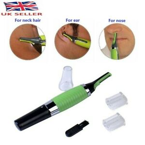 ALL IN ONE NOSE EAR NECK EYEBROW SIDEBURNS HAIR TRIMMER CLIPPER REMOVER UK SELLE