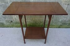 Tall Vintage Teak Drop Leaf Side / End  / Sewing / Plant / Hallway Table