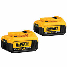 2 New Genuine Dewalt 20 Volt MAX 4.0 Ah Lithium Ion Batteries # DCB204