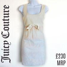 Juicy Couture Dress Pink Ivory Bow Mini Minidress Cotton Size XS