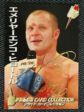 PRIDE FC CARD Fedor Emelianenko GOLD AUTO MMAUFC