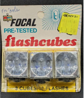Focal Flash Cubes 3 Cubes 12 Flashes Vintage Flashcubes