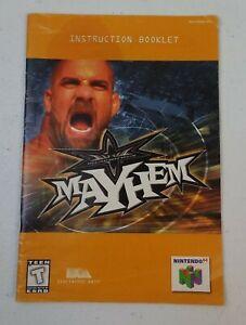 WCW Mayhem Nintendo 64 N64 Manual Instruction Booklet