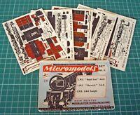 1950s Vintage Original Micromodels NS2 LMS Locomotives 2/6 Rare Set
