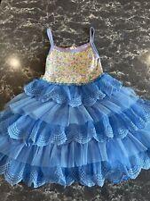 Matilda Jane Girls Brilliant Daydreamer Make a Wish Tutu Dress Blue Size 6.