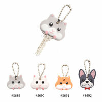 1 Pc Lovely Mouse Hamster French Bulldog Key Cover Cap Keychain Keyring Gift New