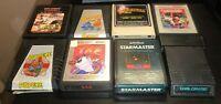 Atari 2600 Lot of 8 Q*Bert Carnival Jungle Hunt Popeye Taz Starmaster Dark More