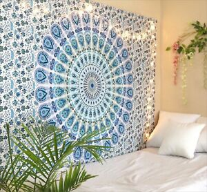 Tapestry Mandala Wall Hanging Boho Cotton Poster Twin Queen Tapestry Home Decor