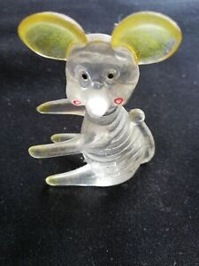 Vintage Lucite Mouse Ornament Mid Century Kitsch Animal