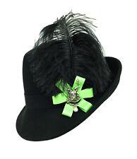 Trachtenhut Hut mit Federn schwarz grün neu Tracht Damenhut, ca 57 cm
