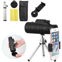 50X60 Zoom Optical HD Phone Camera Lens Monocular Telescope+ Tripod+ Clip NEW