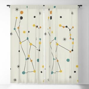 "Society 6 Blackout Constellation Blackout Curtains, 50"" X 84"" pair"