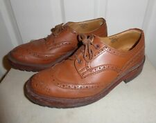 TRICKERS KESWICK HEAVYWEIGHT TAN LEATHER COUNTRY BROGUES SIZE 7.5 DAINITE LOGGER