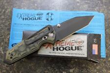 """NEW Hogue 34268 EX02 Extreme Series 3.375"""" Tanto Blade Folding Knife Green G10"""