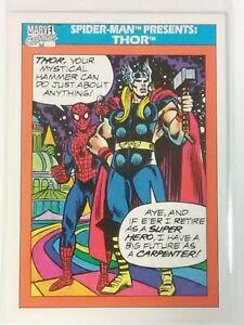 [1990] SPIDERMAN & THOR (Marvel Comics) Trading Card #154 [NEAR MINT] 9.5 grade