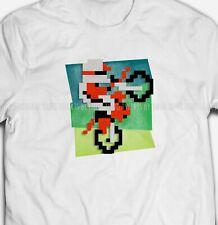 PIXELATED TRIALS BIKE Retro Computer Video Game 100% Cotton Mens T-shirts Tee