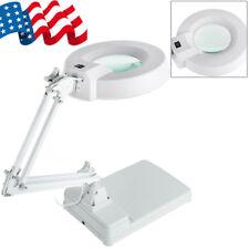 Magnifying Crafts Glass Desk Lamp 10X Magnifier LED Lights Desk Work Lamp 110V