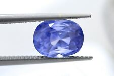 Loose 4.31ct Oval Natural Unheated Sapphire with IGI lab certificate