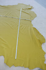 Leder Lederrest Lederstück Lederhaut Echtleder gelb