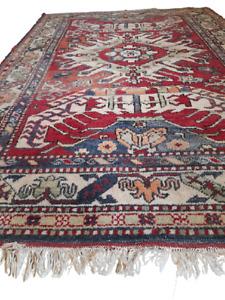 Vintage Hand Knotted Afghan Rug