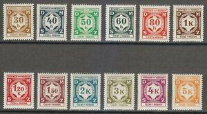 Bohemia & Moravia 1941 MNH Mi 1-12 Sc O1-O12 OFFICIAL STAMPS **