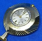 VTG Timex Lady Gold Tone Aluminum Hand-Wind Necklace Pendant Pocket Watch Hours