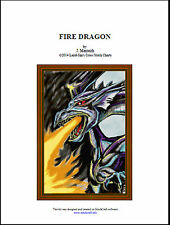 FIRE DRAGON - Cross Stitch Chart
