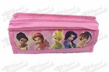 Disney Tinkerbell Zippered Pencil Pouch Teen Girls Pencil Pen Case - Pink