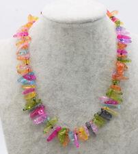 """multicolor branch quartz  necklace  12-22mm nature beads wholesale 17"""""""