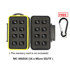 JJC High Quality Waterproof Holder Storage Memory Card Case for 16 Pcs Micro SD