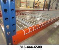 pallet rack deck 42x46 waterfall wire shelving grid 2500 lbs CAP NEW