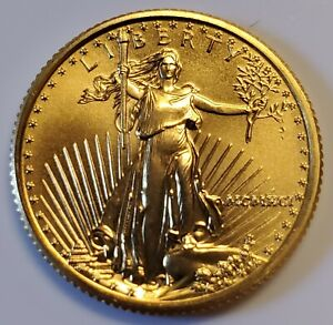 1991 $10 1/4 oz American Gold Eagle Coin in BU/UNC Condition Key Date #2