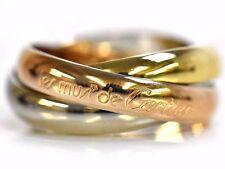 Authentic Excellent Cartier Trinity Ring 18K Tri Color Gold US5.5 EU50 25995