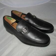 Ferragamo Gancio Logo Bit Black Loafer Sx23 Shoes Size 9 D