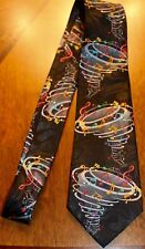 NWT Neck Tie Lot's Of Music Notes Sheet Music All Over On A New Black Tie ! #1