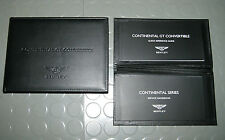 2015 Bentley Continental GT Convertible Owners Manual - SET
