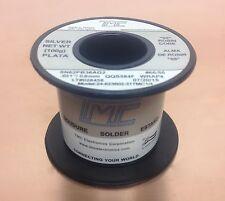 "TMC 24-623602-31TMC1/4  Wire sn62 pb36 AG2 0.8mm  .0315""  100g spool SILVER NEW"