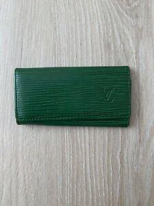 Louis Vuitton Epi Tassil 4 Key Holder Leather Vintage Logo Green Wallet Case