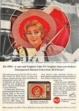 VTG 1964 RCA Victor Television TV Magazine Print Ad Walt Disney World of Color